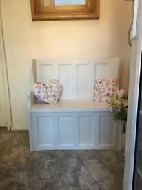 Shabby Chic Solid Pine Monks Bench