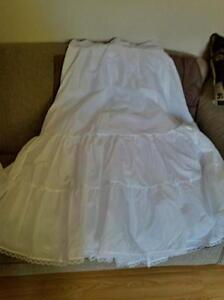 Brand New plus size A-line Slip Skirt accentuates wedding dress