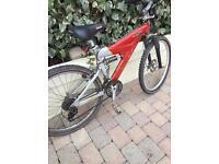 Raleigh suspension mountain bike
