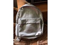 Silver sparkly kids mini backpack new