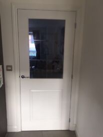 4 x internal glass doors white