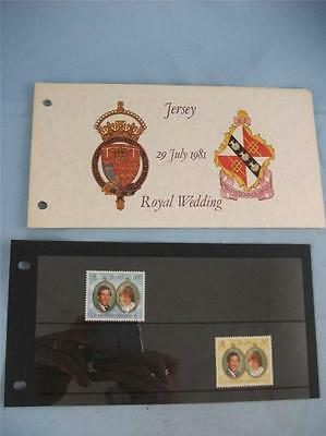 '29 July 1981, Royal Wedding' Jersey Stamp presentation pack, issue 28 /7 /1981