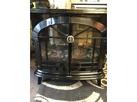 High gloss black electric dimplex heater