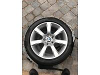 Bmw F10/11 18inch alloys with winter tyres