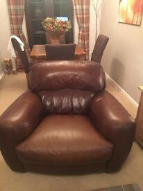Good condition leather sofa NEED GONE- (single and double sofa)