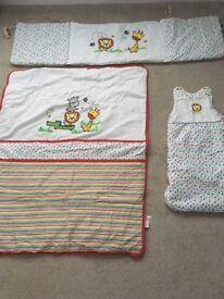 Cot bed set & sleeping bag