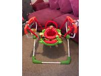 Colourful baby bouncer spin sit