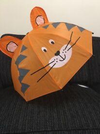 Childrens Tiger Umbrella