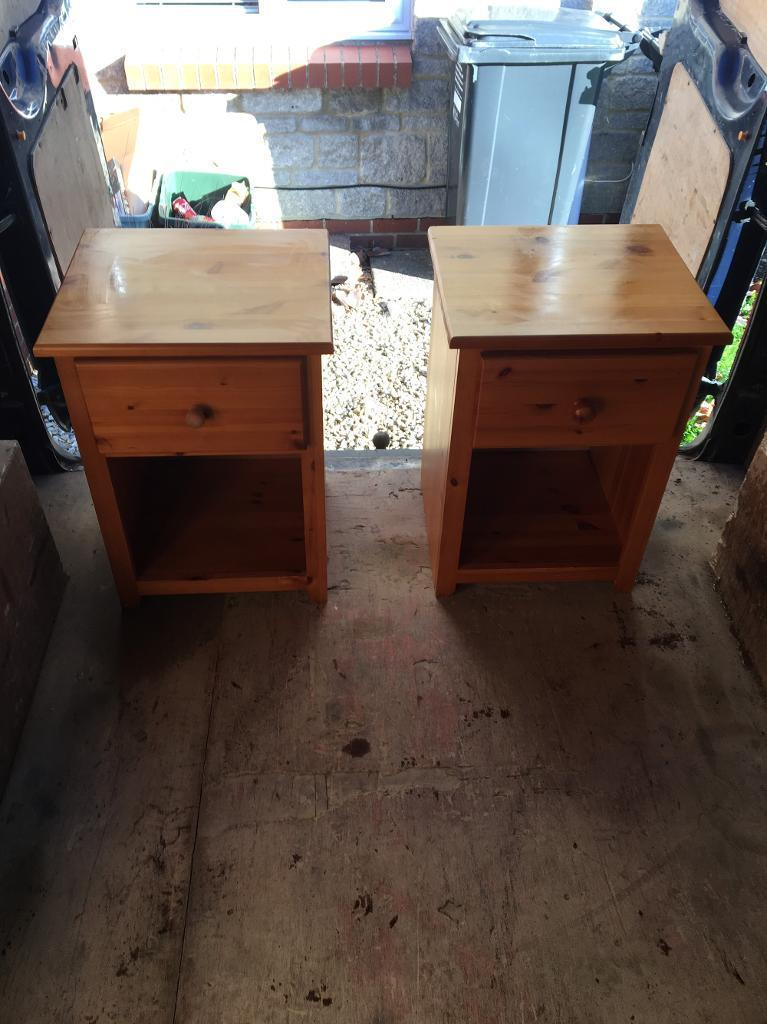 2 bedside Draws Solid wood