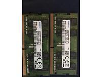 Samsung DDR4 laptop memory 8gb x2 (16GB in total)