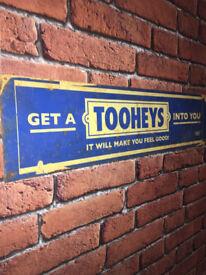 pub beer rare australian tooheys original big vintage advertising sign
