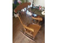 Large wooden vintage style rocking chair
