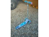 Childs frozen scooter