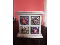 Fair Trade Ceramic Jewellery Box/Storage Chest - Excellent condition