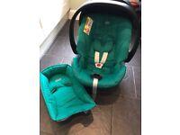 Mamas and Papas Cybex Aton (Teal) car seat and Isofix Base - £120ono