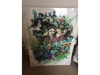 Icons of the 1980s graffiti style canvas from Made