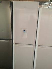 Indesit white good looking frost free A-class fridge freezer with water dispenser