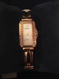 Rotary ladies Diamond Gold Watch LB10167/07 new boxed with papers