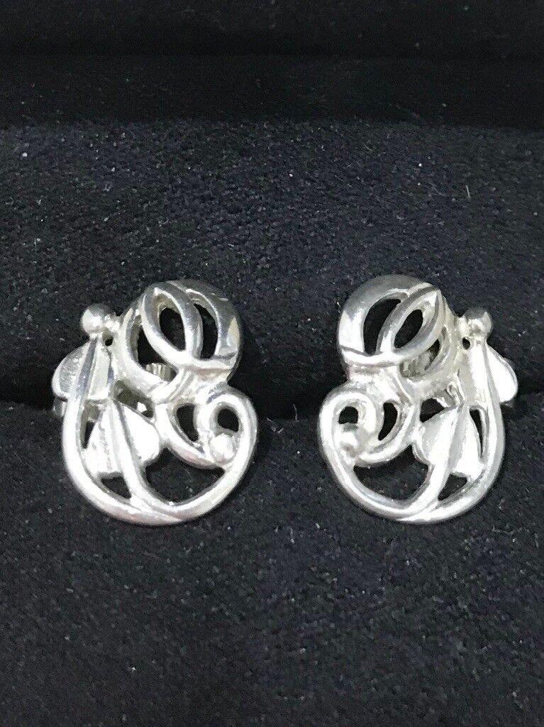 Hallmarked Sterling Silver Charles Rennie Mackintosh Earrings