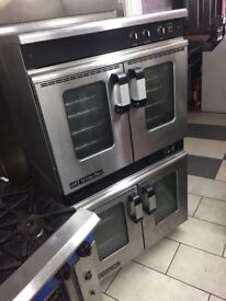 MOORWOOD VULCAN 2 TIER GAS OVEN NATURAL GAS DOUBLE OVEN WITH FAN ON WHEELS