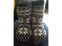 Child's next slipper boots worn once size 6-8.5