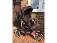 Phil & Teds black explorer pushchair / buggy