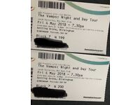 2 tickets for The Vamps, Genting Arena Birmingham 4th May
