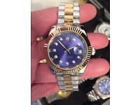 Rolex date mens watch SWEELING HAND