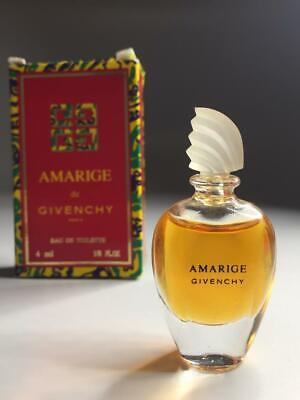 GIVENCHY AMARIGE edt miniature 4ml BOXED Collectible Vintage