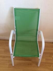 Child chair green/white
