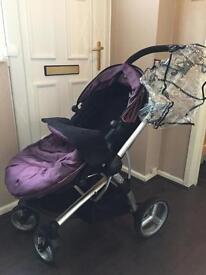Pram pushchair with car seat