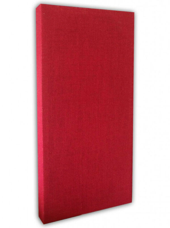 New Acoustic Panels – 24″ x 48″ x 2″ Red Burlap Mixmastered Acoustics