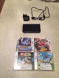 New Nintendo 3DS XL metallic black like new condition without box
