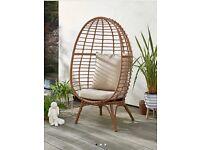 Freestanding garden egg chair BNIB