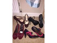 4 pairs of ladies shoes - size 5
