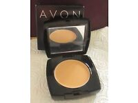 NEW. AVON IDEAL FLAWLESS INVISIBLE COVERAGE CREAM TO POWDER FOUNDATION. NUDE.