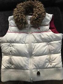 Girls Abercrombie and fitch fur gillet body warmer