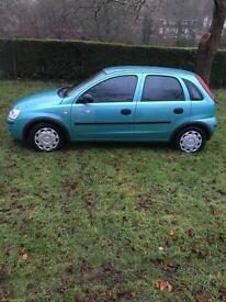 03 plate Vauxhall Corsa 1.2 petrol
