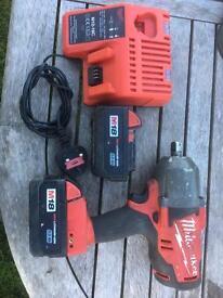 Milwaukee 18v fuel brushless 1/2 nut gun