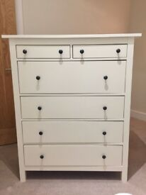 Ikea Hemnes chest of 6 drawers in white + Free delivery
