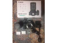 Canon 600D DSLR & 18-135mm Lens with Accessories