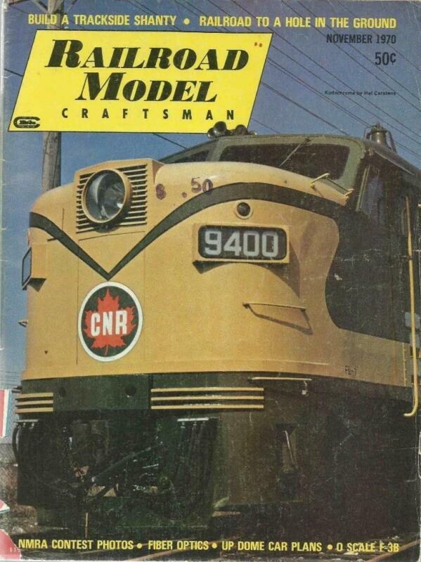 Railroad Model Craftsman November 1970 Trackside Shanty & UP Dome Car Plans