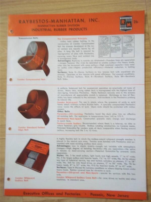 Raybestos-Manhattan Catalog~Asbestos~Steam Hose