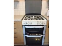 Good Condition - Belling FSG6DO Gas Cooker In White