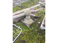 Ornimental stone piece for garden or column topper