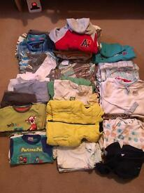 Boys clothes Birth - 18 months (3 large stacker boxes)