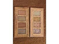 X2 wooden picture frames country chic shabby
