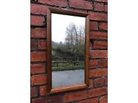 Antique, mahogany framed mirror