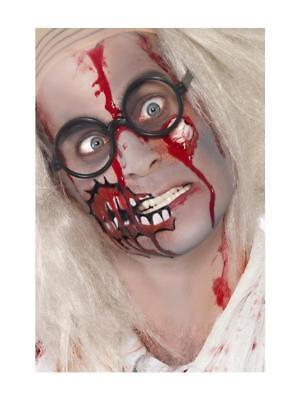 Latex Paint Halloween (ZOMBIE MAKEUP KIT FACE PAINT LATEX EYEBALL AND BLOOD HALLOWEEN)