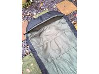 Nash outlaw 2 leg bedchair + Mitchell thermal sleeping bag